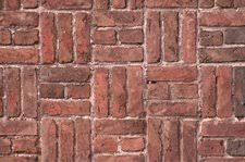 Basket Weave Brick Patio Idea