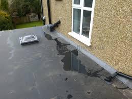 garage roof repair. new garage roof in epdm repair
