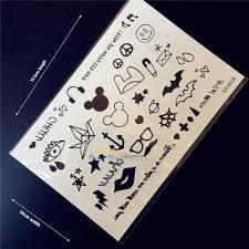 1 шт маленькие милые татуировки на ручном пальце тату мультфильм