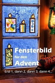 Fensterbild Für Den Advent Fensterbilder Weihnachten