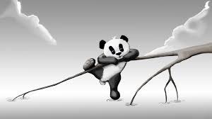 Cute Artistic Black And White Panda ...