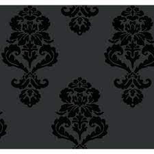 York Wallcoverings Graphic Damask Paper ...