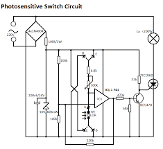 light sensitive switch circuit light sensitive switch circuit diagram
