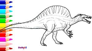 Small Picture Spinosaurus Drawing and Spinosaurus Dinosaur Coloring Pages for