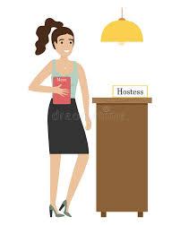 Restaurant Hostess Hostess Restaurant Stock Illustrations 205 Hostess