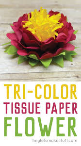 Tissue Paper Flower Decorations How To Make Tissue Paper Flowers Four Ways Hey Lets Make Stuff