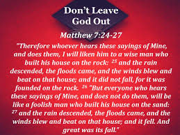 Image result for Matthew 7:24-27