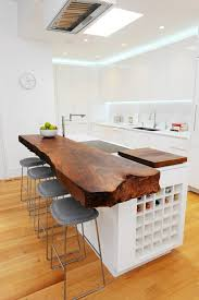 modern kitchen island ideas rustic solid wood countertop contemporary kitchen