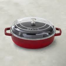 Staub Universal Deluxe Pan Cherry Products Cast Iron