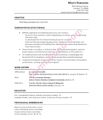Political Campaign Resume Sample Best of Resume For A Union Field Representative Damn Good Resume Guide