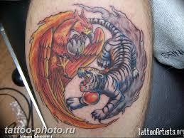 фото тату тигр и дракон 07122018 055 Tattoo Tiger And Dragon