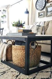 baskets for under coffee table get the free plan for this industrial farmhouse coffee table ikea