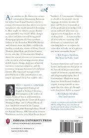 a conservationist manifesto scott russell sanders  a conservationist manifesto scott russell sanders 9780253220806 com books