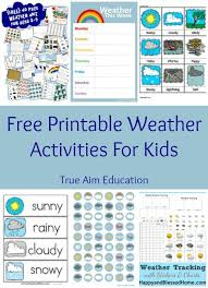 Free Printable Weather Activities For Kids Weather