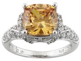 bella luce 6 25ctw chagne and white diamond simulant rhodium simulant diamond