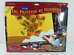 reeves masters collection vincent van gogh sunflowers paint by numbers set new
