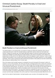 bestessayservices com criminal justice essay death penalty is cruel 08 19 2016 criminal justice essay death penalty is cruel and unusual punishment