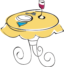 dinner table clipart. Contemporary Clipart Cafe Table In Dinner Table Clipart G