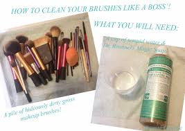 how to clean your make up brushes like a boss featuring dr bronner s magic soap