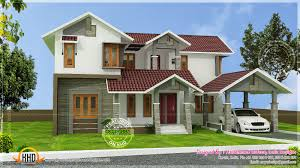 Sloping Roof Design Ideas Kerala Sloping Roof House Modern Interior Designs Home