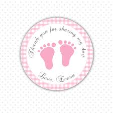 Printable Personalized Baby Shower Favor Tags