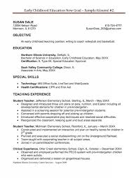 childhood education resume samples Free Sample Resume Cover Sample Teacher  Resume No Experience Easy Resume Samples