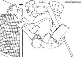 Small Picture Hockey goalkeeper coloring pages Hellokidscom