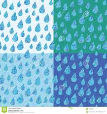 Drops Patterns Best Set Of Four Seamless Patterns With Rain Drops Stock Vector
