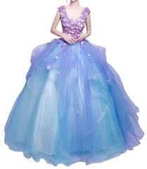 Promgirl House Damen Traumhaft Blumen Prinzessin Ballkleider