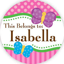 Layla Pink <b>Name</b> Sticker <b>DIY Greeting</b> Card Toppers Personalise ...