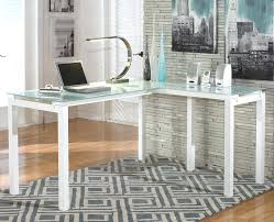 white and glass desk frosted glass l shaped desk white glass top desk with drawers