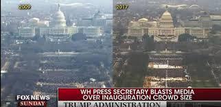 trump inauguration crowd size fox even fox news says trump is lying about inauguration crowd size