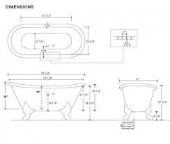 standard clawfoot bathtub size ideas