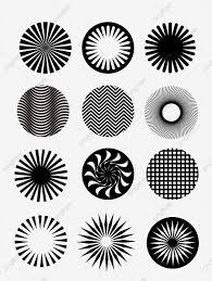 Radiation Design Black And White Design Element Series Vector Material 13