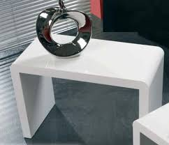 white side tables. White High Gloss Side And Coffee Table Tables E