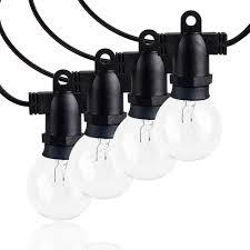 Amazon Patio Lights Amazon Com Kanstar Globe String Patio Lights 34ft With 15