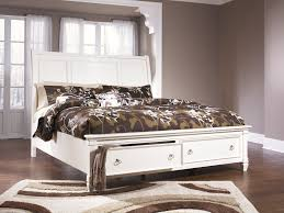 ashley furniture pice king sleigh storage bed in white local furniture