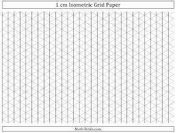 Black 1 Cm Isometric Grid Paper Template Download Printable