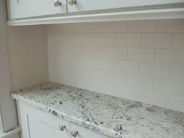 matte white subway tile kitchen