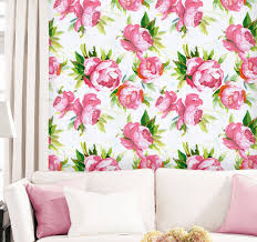 Buy Haokhome 3d Floral Tapete Selbst Klebe Weißrosa Kontaktieren