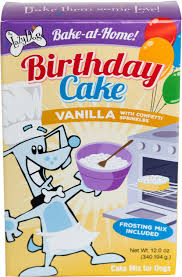 The Lazy Dog Cookie Co Bake At Home Vanilla Birthday Cake Mix Dog