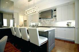 chandelier over kitchen island partition contemporary interior large