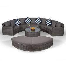 5 seat rattan garden furniture sofa set