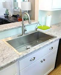 kitchen sink countertop combination one piece and old regarding stainless steel combo designs 33