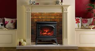 gazco clarendon electric stove with georgian wooden fire surround