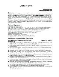 Sap Security Consultant Sample Resume Analyst Network Cover Letter