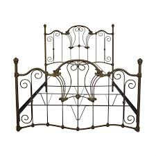 73% OFF - Charles P. Rogers Charles P. Rogers Queen Sized Wrought Iron Bed / Beds