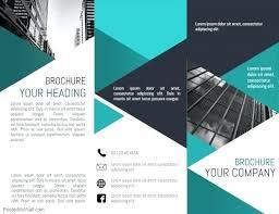 Free Corporate Brochure Template Tri Fold Brochure Template