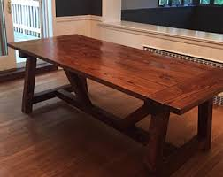 Image Industrial Farmhouse Dining Table W Truss Beam Legs Kitchen Table Rustic Farmhouse Table Farmhouse Table Rustic Dining Table Birch Lane Rustic Kitchen Table Etsy