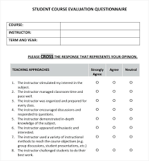 Survey Template Doc Course Evaluation Questions Template Course Survey Template